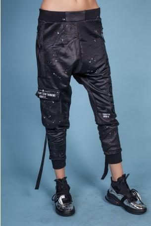 מכנסי ג'וגר שקי שחורים TOY