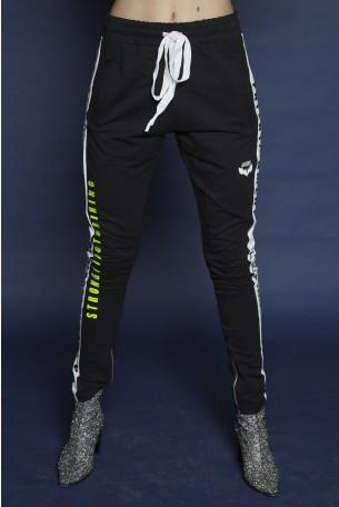 מכנסי פוטר שחורים פס צד ORIGINAL