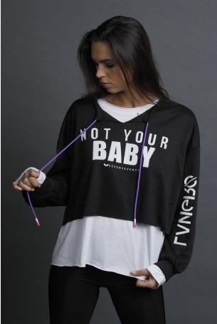 חולצת פוטר שכבות בגווני שחור ולבן BABY