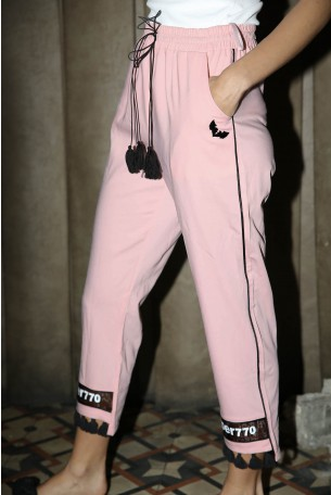 מכנסים ורודים פונפונים  SUPER 770