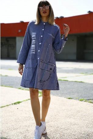 שמלת ג'ינס מכופתרת AIN'T
