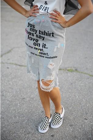 חצאית מיני אפורה YES