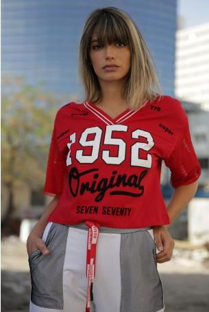 חולצה אדומה שרוול רשת ORIGINAL