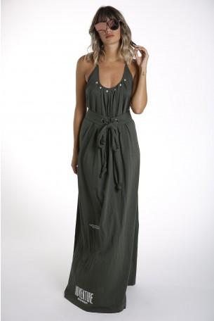 שמלה אלגנטית ארוכה גב חשוף  ADVENTURE
