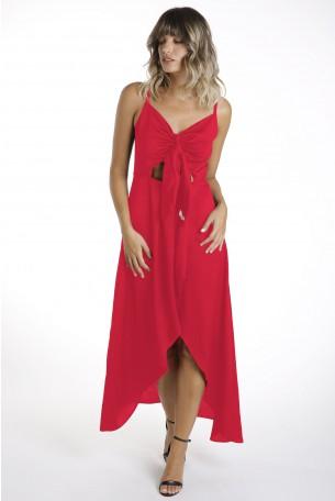 שמלה אדומה אלגנטית אורכים  WINGS