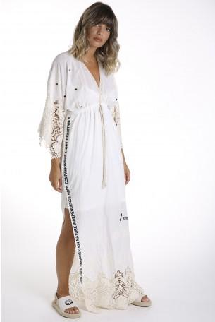 שמלת קרושה מבד כותנה ופשתן  HOPE