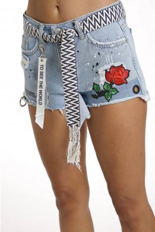 מכנסי ג'ינס קצרים ROSE