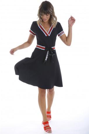 שמלה שחורה בגזרת טניס SUPER