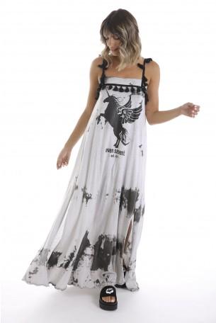 שמלת מקסי בד שטוף UNICORN