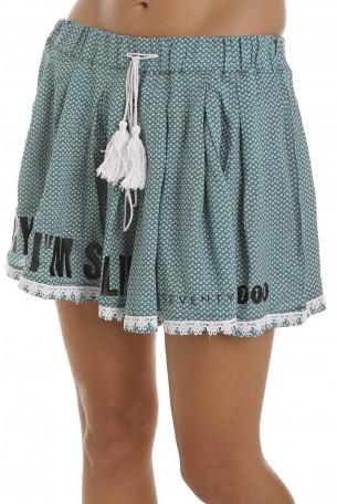 חצאית מיני פליסה ירוקה SPARKLING