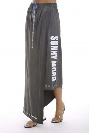 חצאית אסימטרית אפורה SUNNY