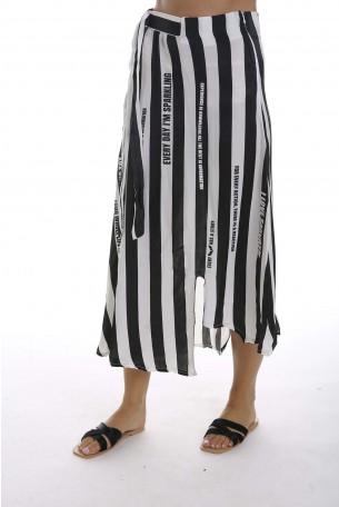 חצאית פסים שחור לבן MIRACLE