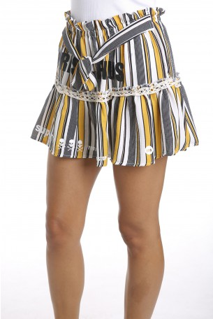 חצאית מיני פסים SUPER
