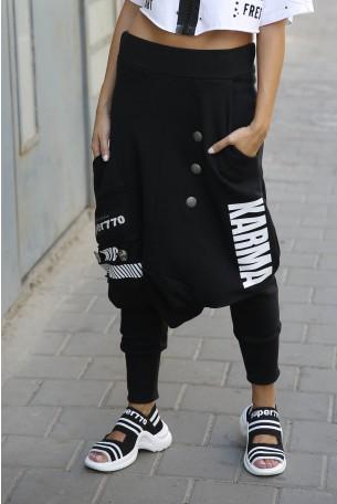 מכנסי שקי שחורים  NYC