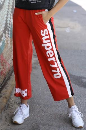 מכנסי ג'וגר אדומים SUPER