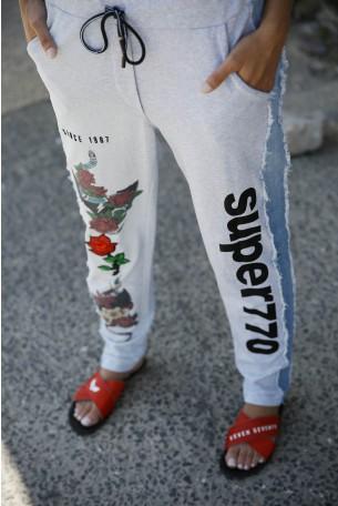 מכנסי שילוב פוטר וג'ינס ROSES