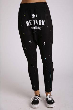 מכנסי שקי שחורים NEW YORK