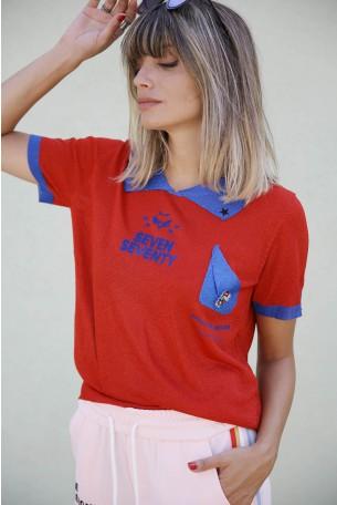 חולצת לורקס אדומה קצרה HAVANA