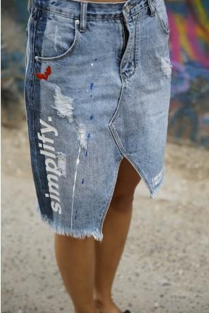 חצאית מידי ג'ינס SIMPLIFY