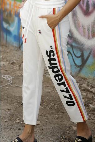 מכנסי ג'וגר מעוצבים לבנים STYLE