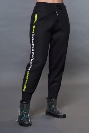 מכנס סריג שחור STRONG