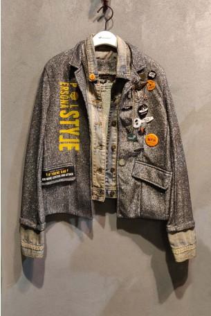 ג'קט ג'ינס משולב בד לורקס SPARK