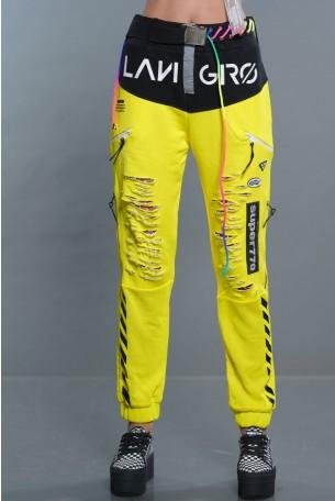 מכנס פוטר צהוב נאון SUPER770