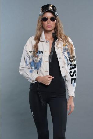 ג'קט ג'ינס בגוונים שטופים  BASE