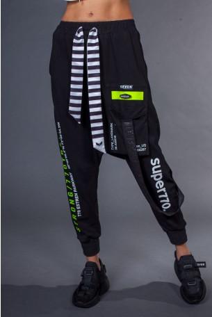 מכנסי שקי שחורים כיס LANDMARK