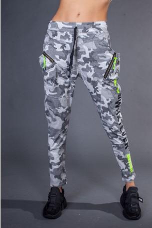 מכנסיים צמודים בגווני הסוואה אפורים WHATEVER
