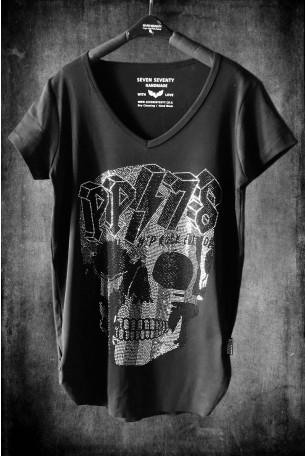 חולצת T שחורה SKULL