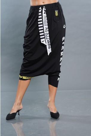 חצאית מכנס שחורה SIGNATURE