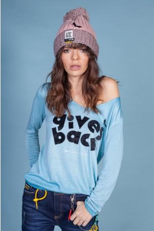 חולצה ארוכה תכלת GIVES
