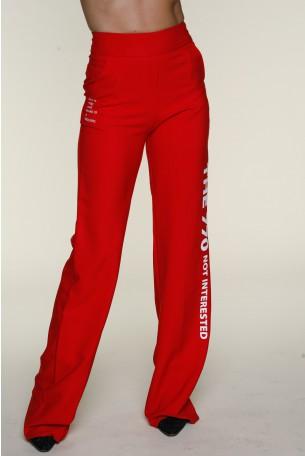 מכנסיים אדומים בגזרה מתרחבת INTERESTED