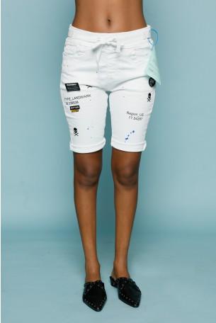 מכנסי ברמודה לבנים בגזרה ייחודית REGION