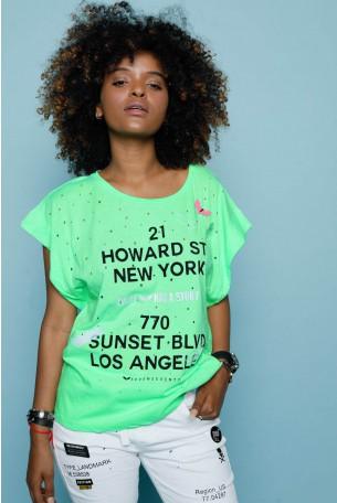 חולצת T ירוקה מחוררת HOWARD