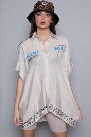חולצת טוניקה בז' פסים  TALENT
