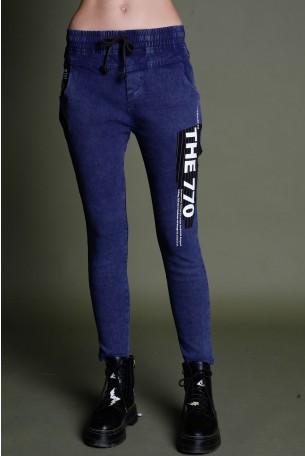 מכנסי ג'ינס בגזרת ג'וגר CALL IT