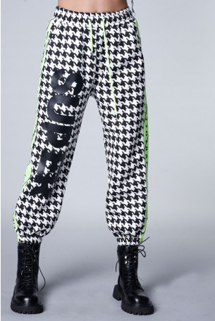 מכנסי פוטר פפיטה שחור לבן  STRONG