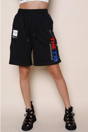 מכנסי ברמודה פוטר שחורים טיקטקים THE 770