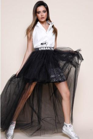 חצאית טוטו טול שחורה URBAN