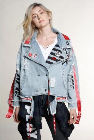 ג'קט ג'ינס בעיצוב מיוחד BOOM