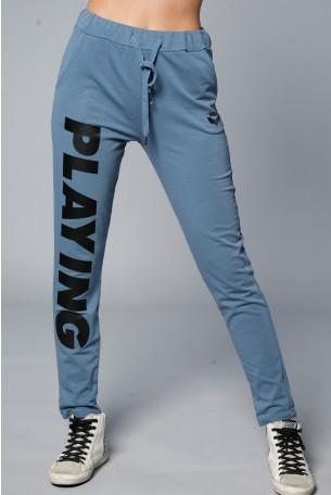 מכנסי ג'וגר בגוון אפור כחול PLAYING