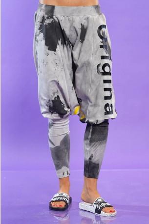 מכנסי שקי בגוון אפור שטוף ORIGINAL