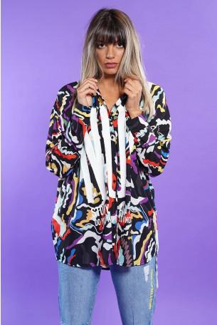חולצת מכופתרת צבעונית שרוול ארוך NOT