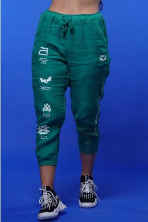 מכנסי פשתן ירוקים MAXIMUM