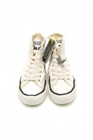 נעלי סניקרס לבנות בגזרה גבוהה  WARNING