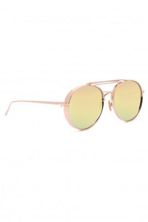 משקפי שמש עם מסגרת בצבע זהוב נחושת FLY