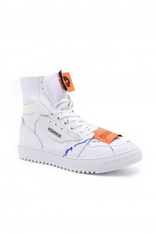 נעלי סניקרס גבוהות לבנות MOR
