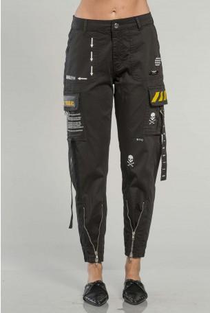 מכנסי דגמח בצבע שחור  MAGIC